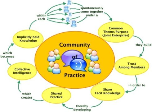 A simple graphic illustrating the dynamics of a Community of Practice (CoP). Retrieved October 31, 2013 from http://www.orthopaedicsone.com/display/Main/Community+of+Practice