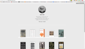 A Screen Capture of the Otlet's Shelf Tumblr Theme.